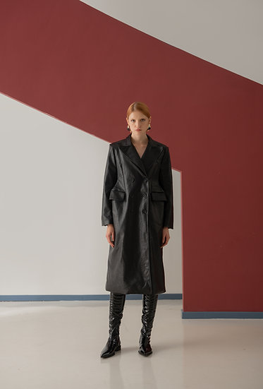 Trinity Vegan Leather Coat