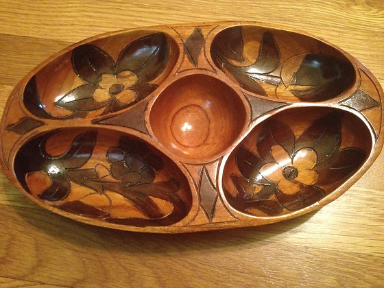 5 Section Wooden Bowl