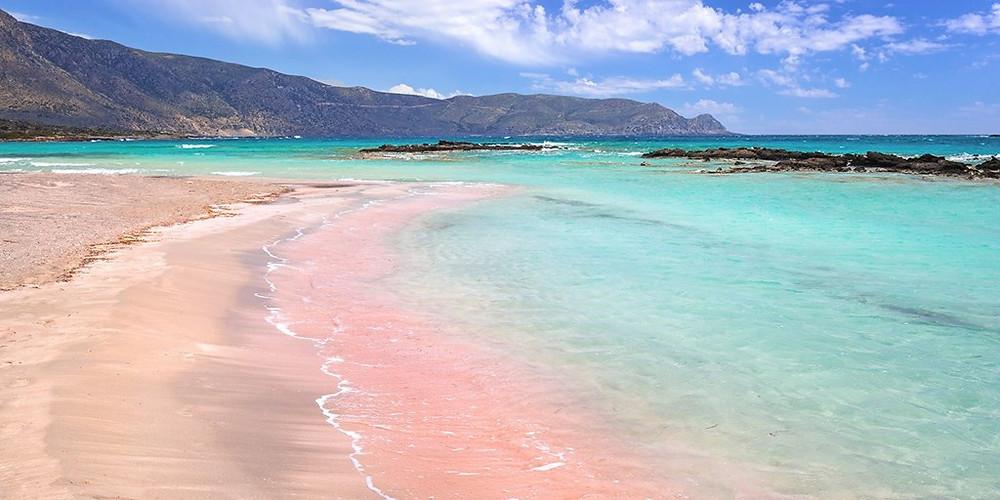 Beach, sand, pink beach,