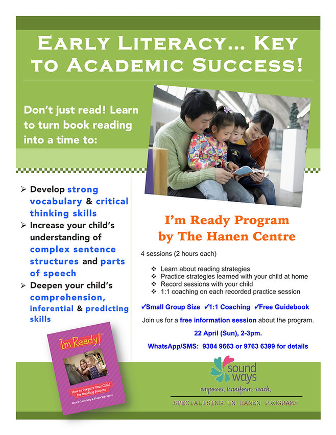 Hanen Early Literacy Reading Sucess
