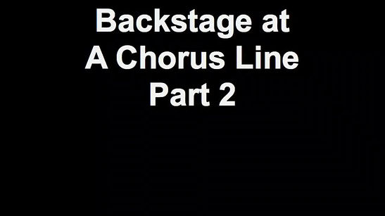 Behind The Scenes A Chorus Line