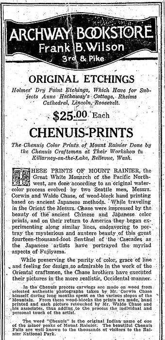 Corwin Chase Waldo Chase Woodblock Woodcut Print Advertisement