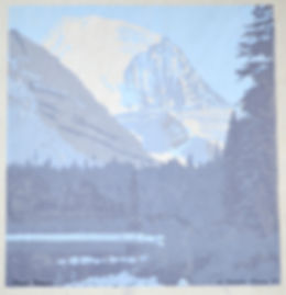 Corwin Chase Woodblock Woodcut Print Mt Robson