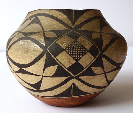 Acoma Pueblo Polychrome Pottery Olla Water Jar