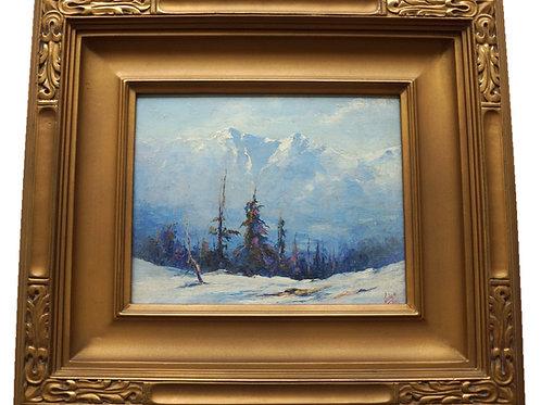 Jules Dahlager Oil Painting, Alaskan Landscape, 1929