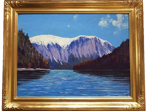 Jules Dahlager Oil Painting, Punch Bowl Cove, Inside Passage, 1945