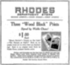 Waldo Chase Woodblock Woodcut Print Advertisement