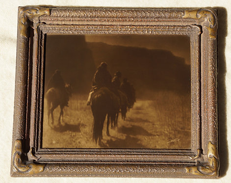 "Edward Curtis ""Vanishing Race"" Orotone/Goldtone Photograph"