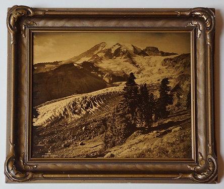 Asahel Curtis Mt. Rainier Nisqually Glacier 44896 Orotone/Goldtone Photo