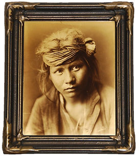 "A rare Edward S. Curtis ortone or goldtone photograph, ""Son of the Desert,"" from the artist's Seattle studio, ca. 1917-1921."