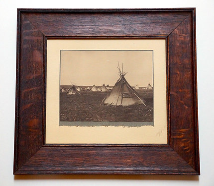 "Edward Curtis ""Blood Lodge"" Toned Platinum Photograph"