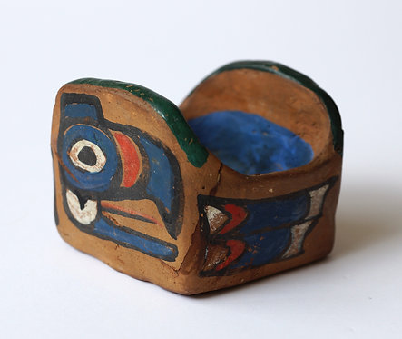 Emily Carr Klee Wyck Hand-Painted Studio Ceramic Vessel ca. 1924 - 30