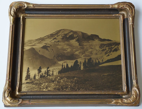 James Bert Barton Orotone/Goldtone Photograph Mt. Rainier Paradise Valley