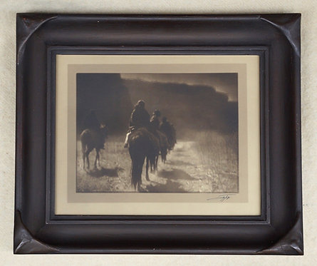 "Edward Curtis ""Vanishing Race"" Toned Silver Gelatin Border Photograph"