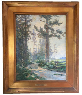 "Paul Morgan Gustin, ""A Bend in the Road (Whidbey Island, Washington),"" 1920, oil painting"