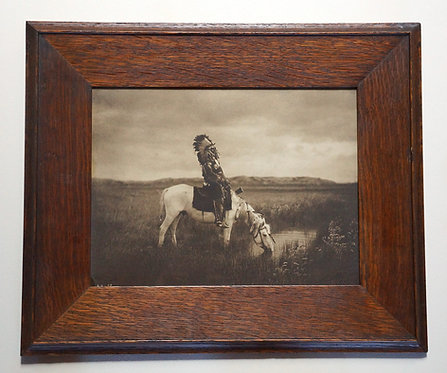 """Edward Curtis """"Oasis in the Badlands – Sioux"""" Toned Platinum Photograph, Signed"""