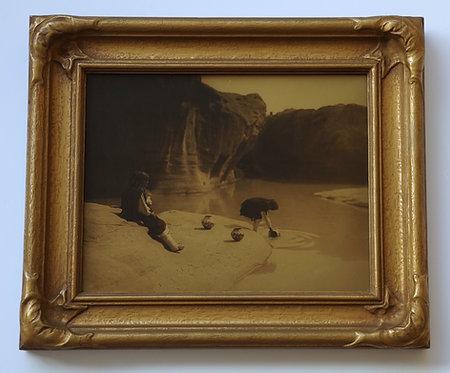 "Edward Curtis ""Old Well at Acoma"" Orotone/Goldtone Photograph"