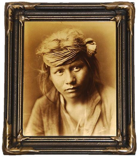 EDWARD S. CURTIS Orotone Goldtone Photograph Son of the Desert