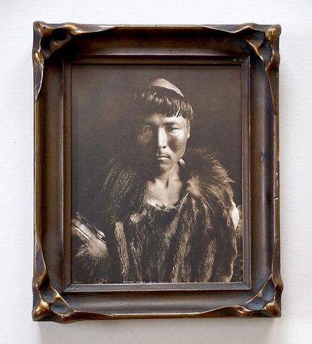 "H. G. Kaiser Sepia-Toned Silver Gelatin Photograph, ""Eskimo Chief,"" ca. 1910"