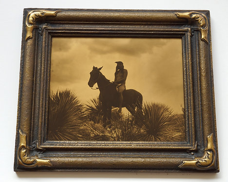 "Edward Curtis ""The Scout - Apache"" Orotone/Goldtone Photograph"