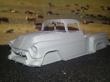 erster Testdruck des 1955-1959er GMC Blue Chip in 1:43...