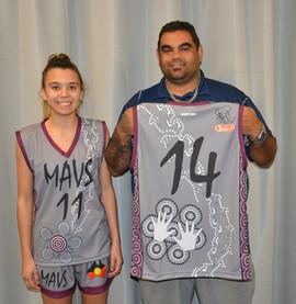 NAIDOC Mavs Uniform designer Harley Hall