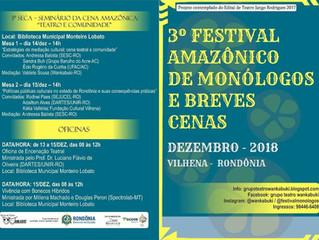 3º Festival Amazônico de Monólogos e Breves Cenas