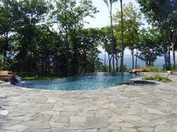 Infinity Edge with Spa Avon CT Connecticut Pool and Spa