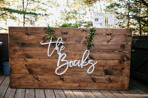 Wood Bar - Madeline Island Wedding