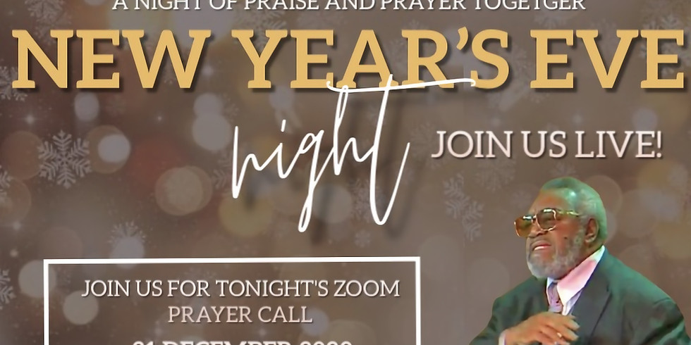 New Year's  Eve ZOOM Prayer with Pastor