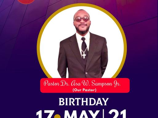 Sign Virtual Anniversary/Birthday card for Pastor Sampson Jr.