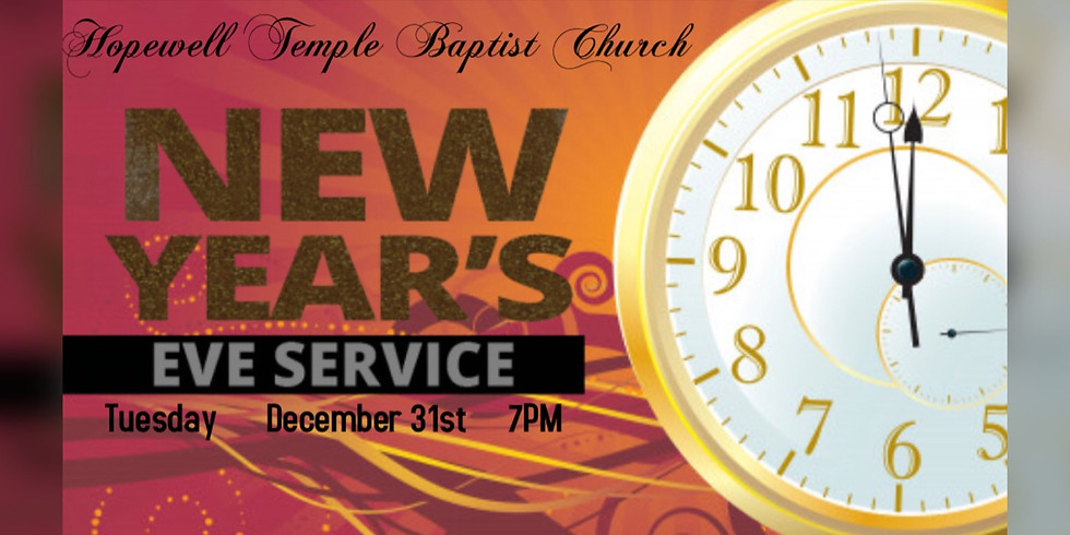 New Year's Eve Worship Service