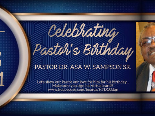 Celebrating Pastor's Birthday
