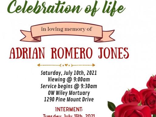 Celebration of Life - Sis Ruth Jones Son  Information