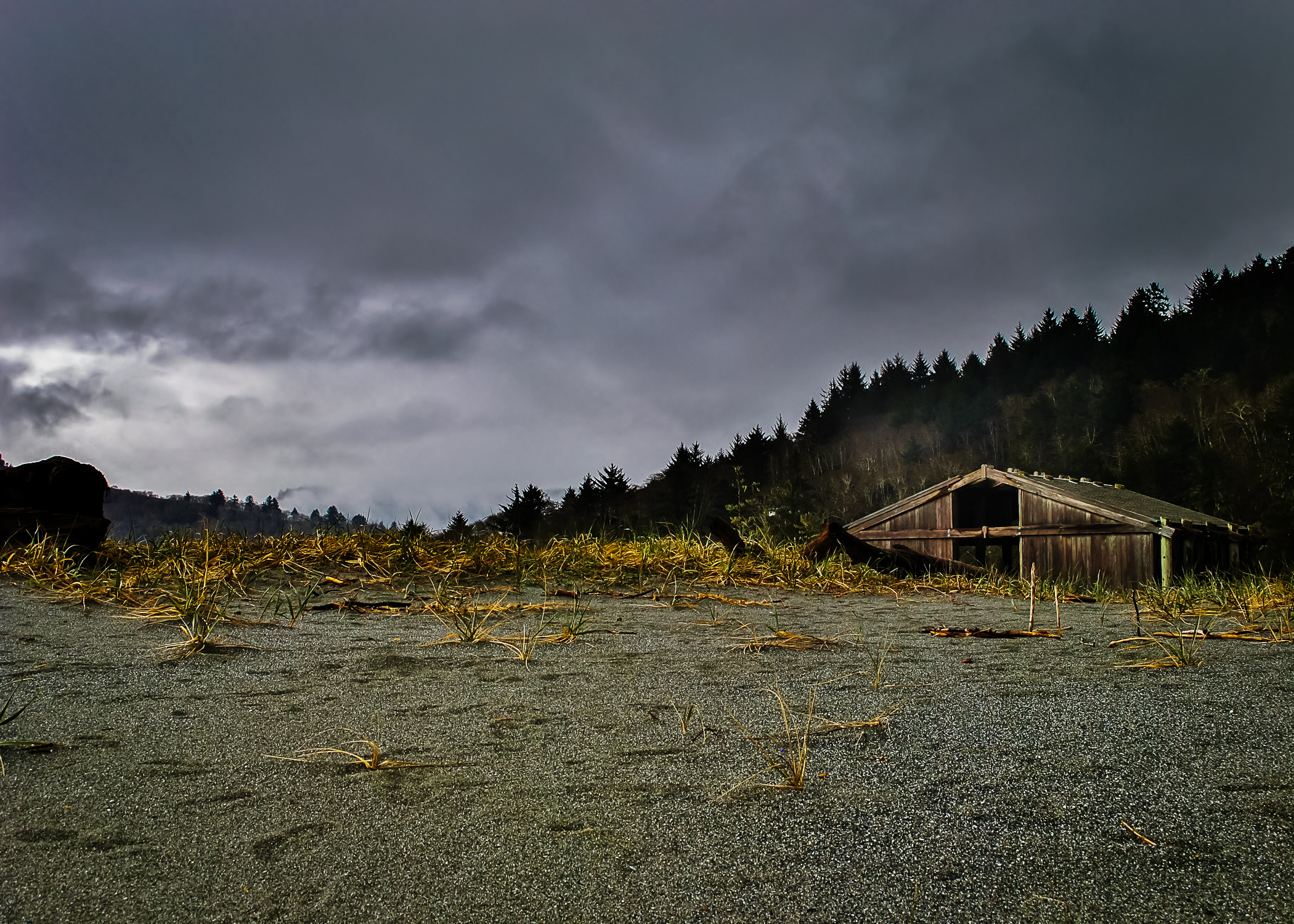 a stonier beach