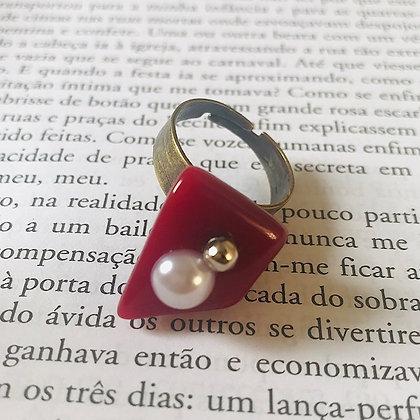 Anel Cascalho Pérola