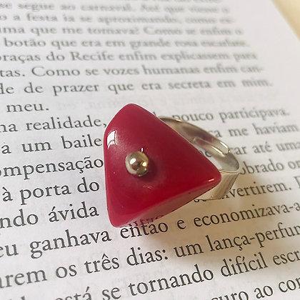 Anel Cascalho Vermelho