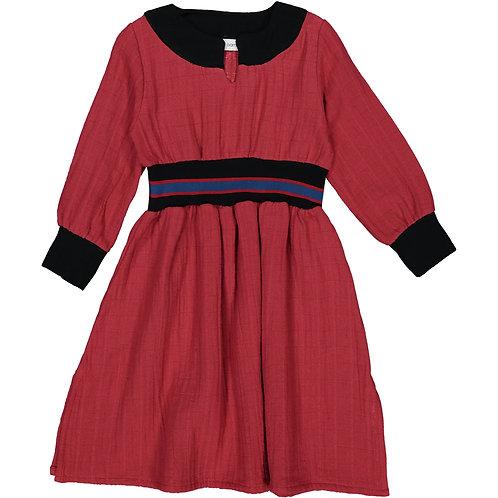 Belted Dress - Silky Marsala - Kid