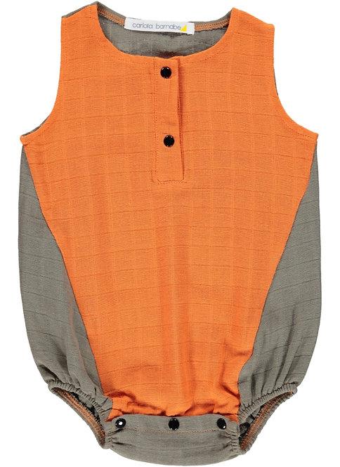Romper - Orange | Taupe