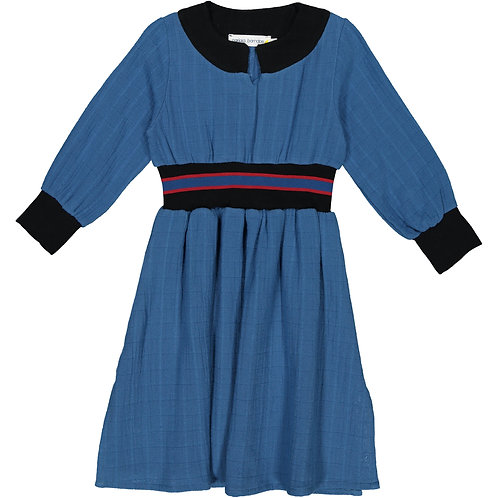 Belted Dress - Nippy Blue - Kid
