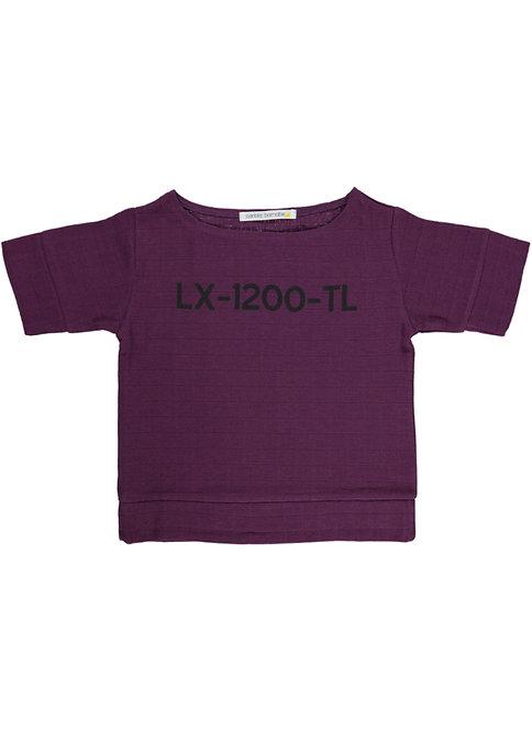 Lx Blouse - Lettering - Purple Saudade