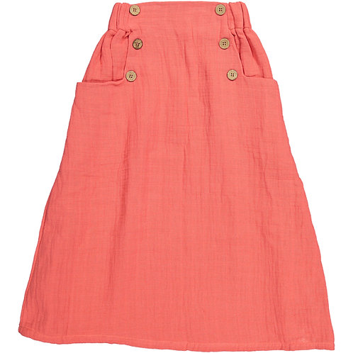 Long Skirt - Coral
