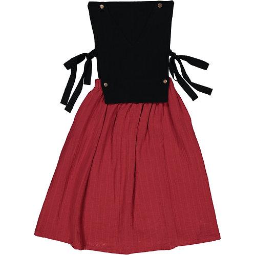 Pinafore Dress - Silky Marsala - Teen/Woman