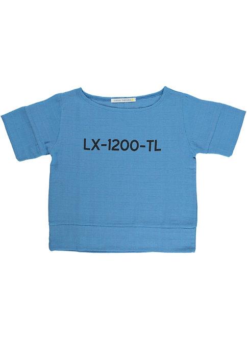 Lx Blouse - Lettering - Blue Tejo