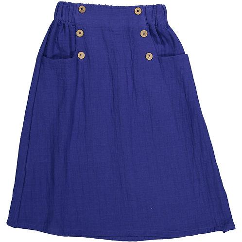 Long Skirt - Indigo