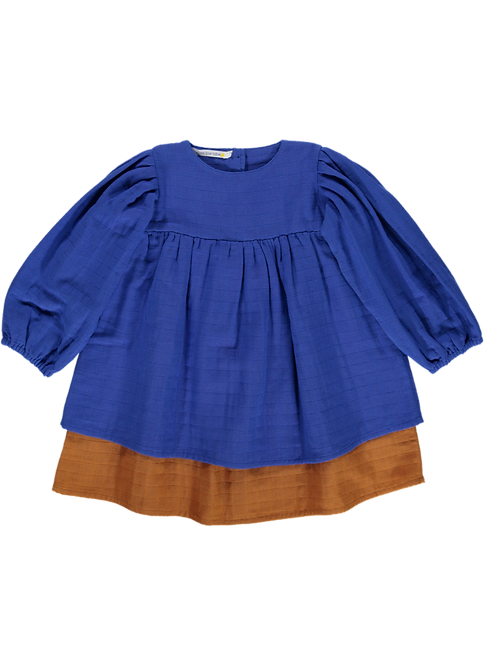 Dress 2 colors - Blue | Caramel