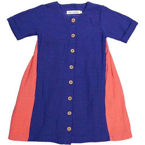 Dress II - Indigo + Coral