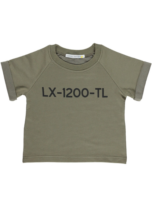 lx t shirt lettering taupe