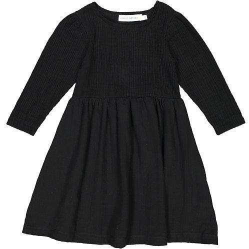 Wrinkled Dress - Dark Black - Teen/Woman
