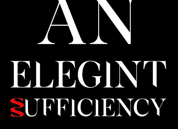 T-shirt An EleGINt Sufficiency black
